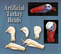 Artificial Turkey Heads