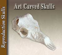 Art Carved Two-Piece Skulls